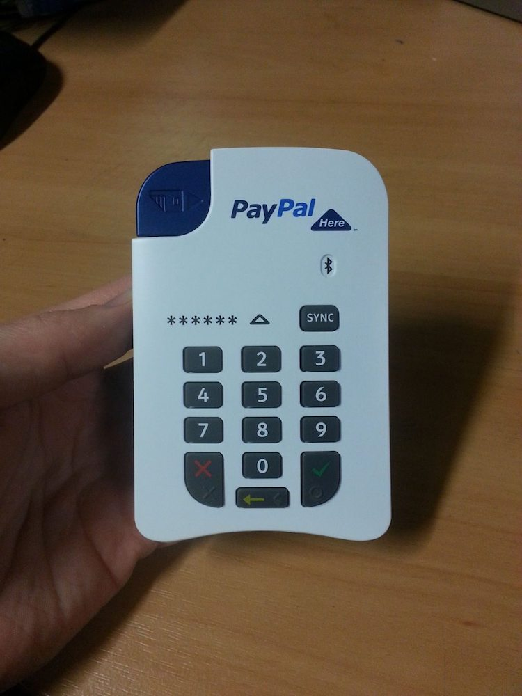 PayPal Here Chip and PIN card reader